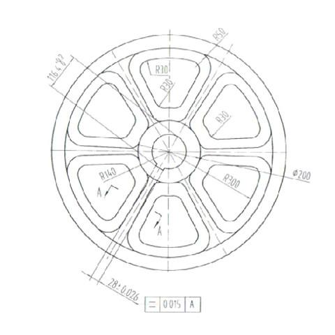 皮带轮/挡水圈/下导轨镶块