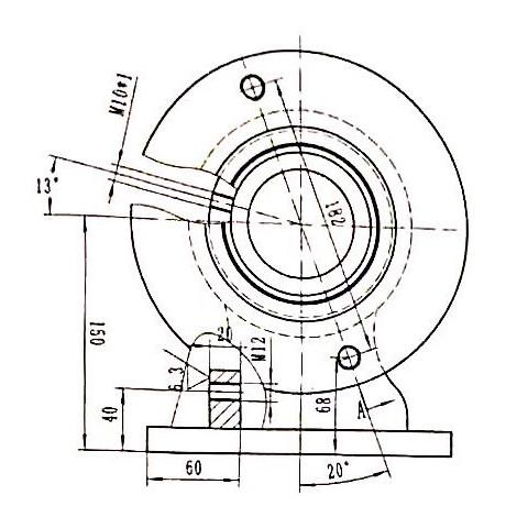 双联泵固定轴座