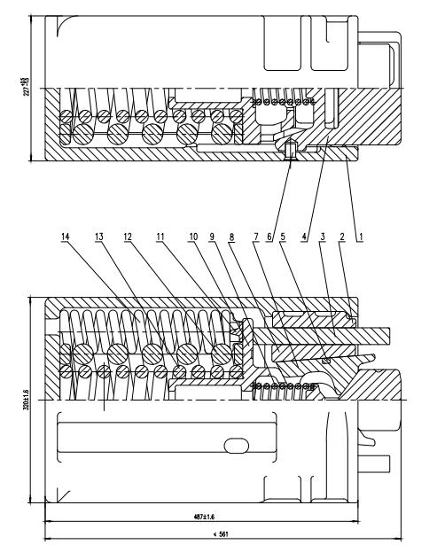 摩擦式缓冲器-70级铁路货车用配件