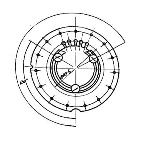 转子铁芯叠片