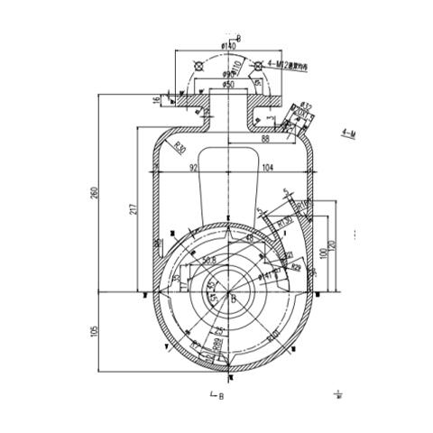 自吸泵泵体