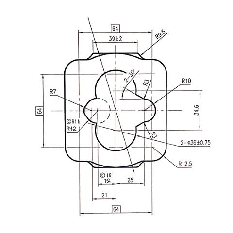 齿轮油泵泵体